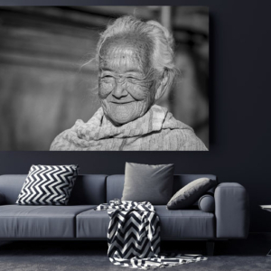 Portrait of an old Balinese grandmother