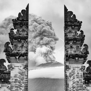 The eruption of Mount Agung