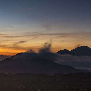 Sunrise panorama in Kintamani
